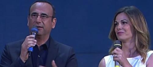 I conduttori Carlo Conti e Vanessa Incontrada