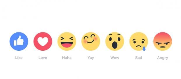 "Facebook new ""Reactions"" buttons"