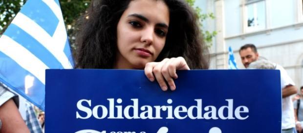 Manisfestação de apoio a Grécia em Portugal