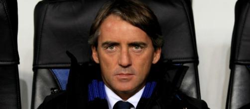 Mancini sulla panchina dell'Inter