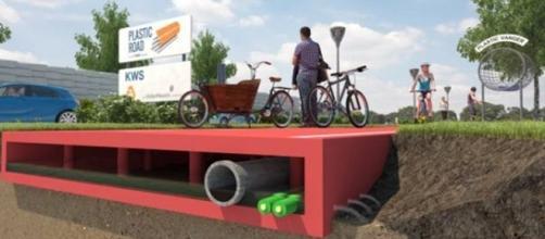 Progetto Plastic Road dall'Olanda