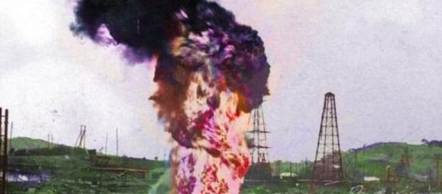 Focul din Moreni. Sursa: furcuta.blogspot.ro
