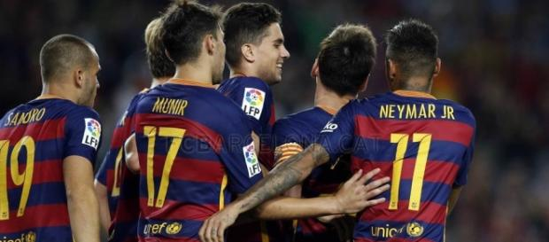 Jugadores del equipo F C Barcelona