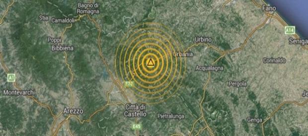 Manifestazione sismica nelle Marche