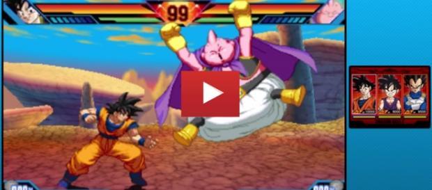 Imagen del combate entre Goku y Majin Buu