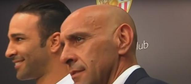 Monchi, en la presentación de un futbolista