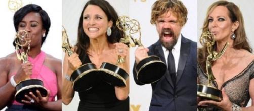 Algunos ganadores del Emmy 2015.