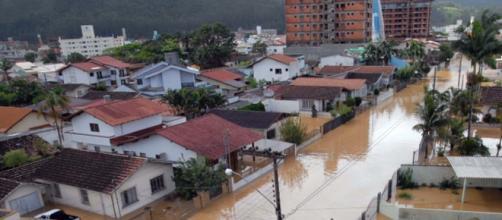 chuvas castiga Santa Catarina.