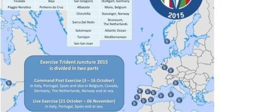 Mappa basi Trident Juncture 2015