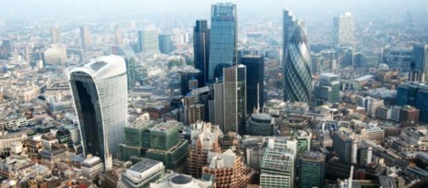 Centro financeiro de Londres na Inglaterra