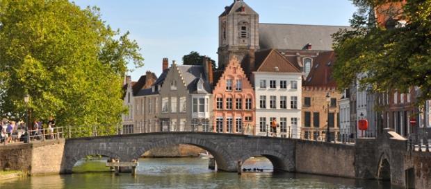 A bela cidade belga de Brugge.
