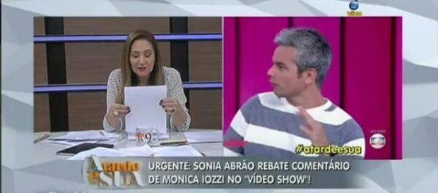 Sônia Abrão rebate Monica Iozzi