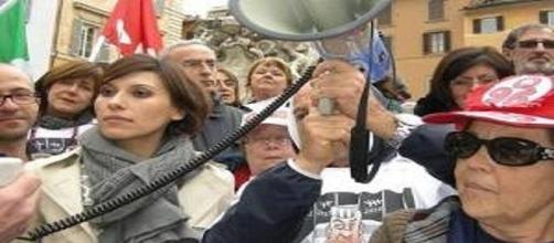 Una manifestazione dei Quota96 in corteo