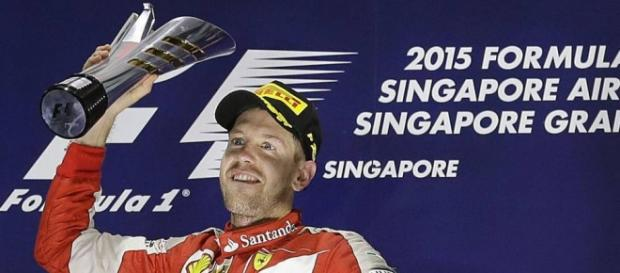 tercera victoria de Vettel en la temporada