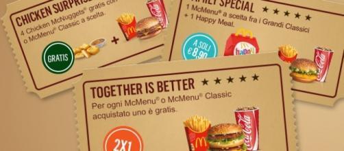 Coupon McDrive per menu gratis e sconto Happy Meal