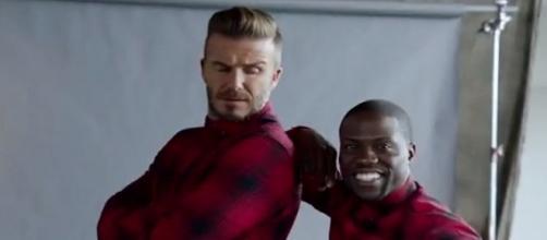 La pareja dispareja de David Beckham y Kevin Hart