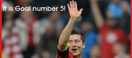 R. Lewandoski celebrates his Fifth goal