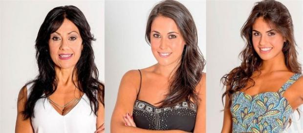 Maite, Raquel y Sofía, las tres nominadas