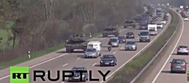 Rosyjska telewizja pokazała czołgi Leopard 2.