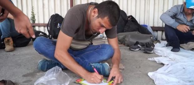 Wniosek o azyl? (Macedonia, YT print scrn)