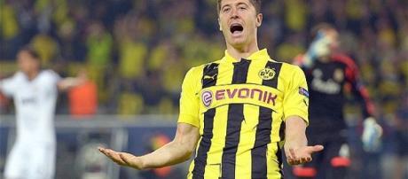 Lewandowski when he was at Borussia Dortmund
