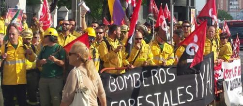 Foto de la manifestación de hoy en Sevilla