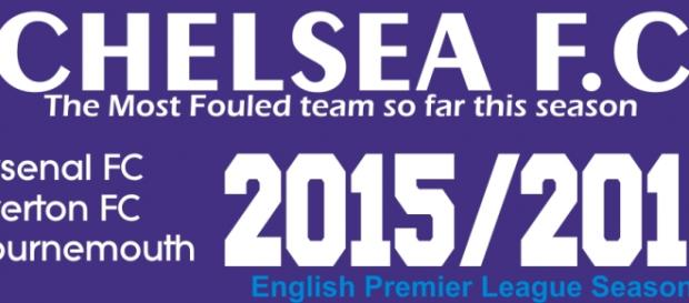 Chelsea are leading the table of most fouls won