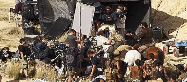 Emilia Clarke durante el rodaje en Navarra