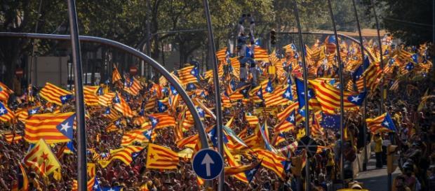 Pochód zwolenników niepodległości Katalonii