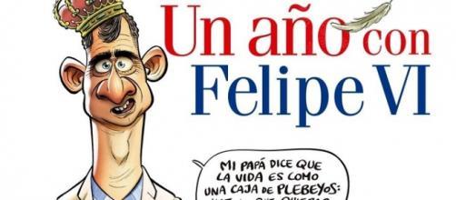 'El Jueves' parodia a Felipe VI como Forrest Gump.