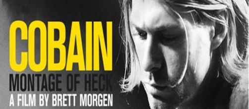 La locandina del documentario su Cobain