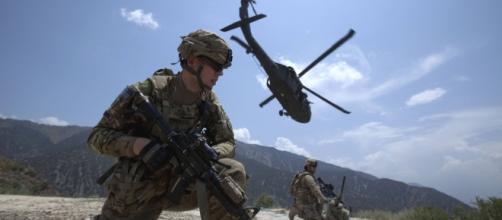 Soldados estadounidenses en maniobras