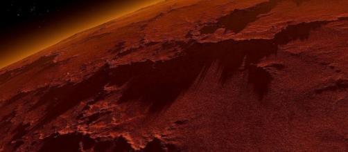 Vista del rojizo planeta Marte