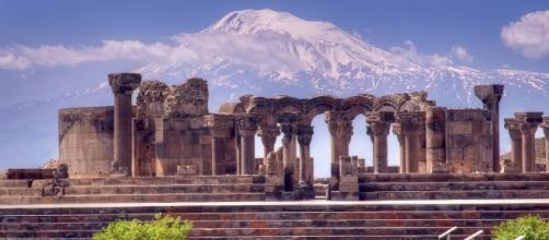 Zvartnots Cathedral and Biblical Ararat