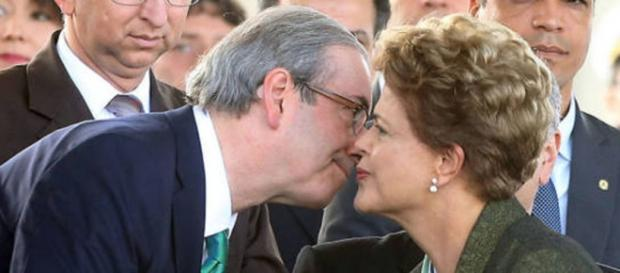 Dilma Rousseff (PT) e Eduardo Cunha (PMDB)