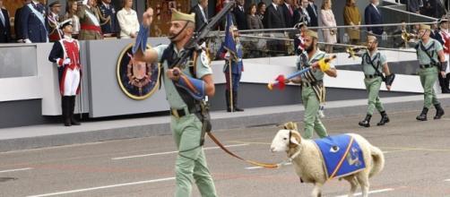 Desfile del 12 de octubre en imagen de archivo