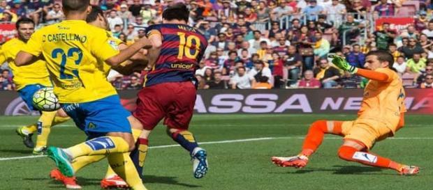 La jugada de la lesión de Messi