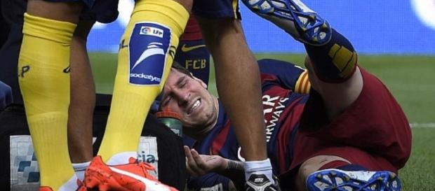 Messi lesionado ante Las Palmas