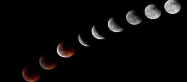 Proceso que seguirán el eclipse y la Superluna.