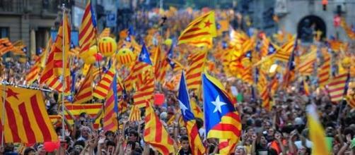 Banderas independentistas en el 11 de setiembre