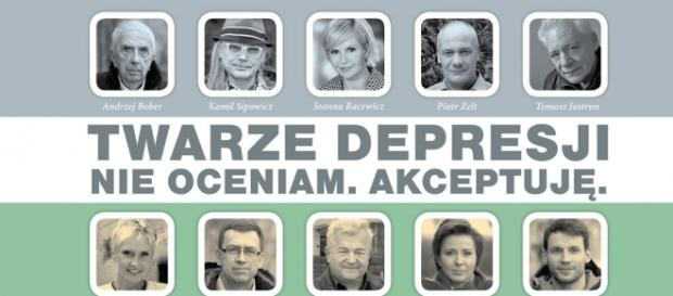 Plakat kampanii. Fot. twarzedepresji.pl