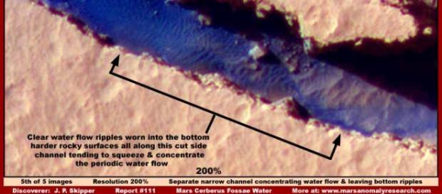 Imagens revelam rios em Marte.