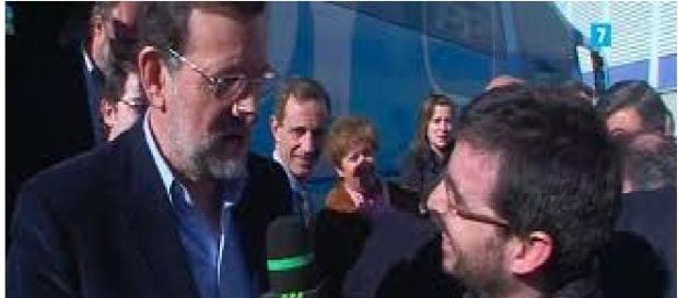 Jordi Évole entrevistando a Mariano Rajoy