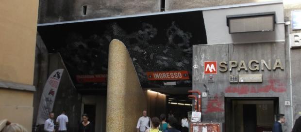 La fermata metro Spagna a Roma