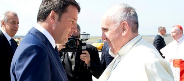 Papa Francesco e il premier Renzi