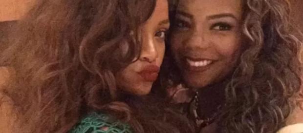 Rihanna e Ludmilla se encontraram no Rio.