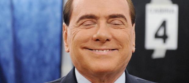 Silvio Berlusconi in un primo piano