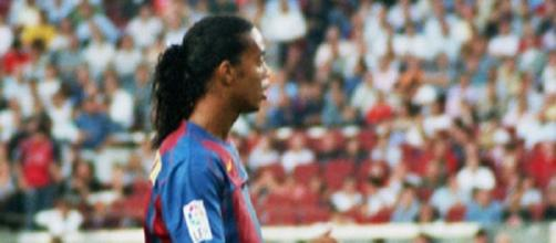 Ronaldinho durante su etapa en el FC Barcelona