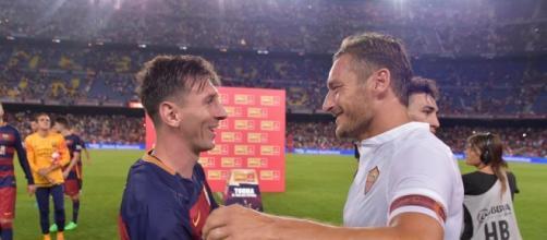 Totti e Messi nel torneo giocato questa estate.