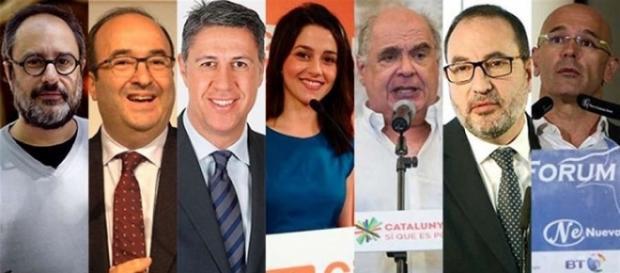 Los siete candidatos a las elecciones catalanas